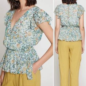 New Walter Baker Wave Blouse in Monarch Floral